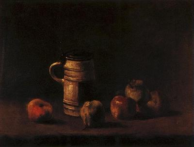 Still Life with Beer Mug and Fruit