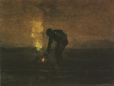 Peasant Burning Weeds