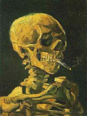 86 Skull with Burning Cigarette