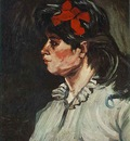 Portrait of a Woman with Red Ribbon
