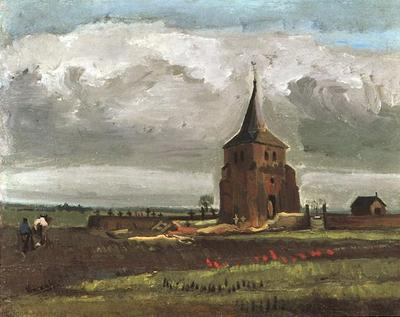 Old Tower at Nuenen with a Ploughman, The