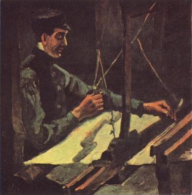 Weaver Facing Right Half Figure