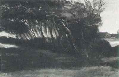 Landscape with Windblown Trees