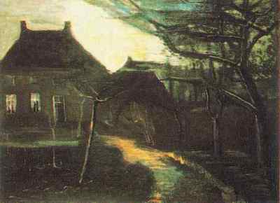 Parsonage at Nuenen by Moonlight, The