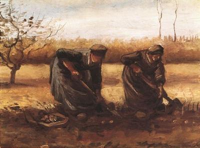 Two Peasant Women Digging Potatoes
