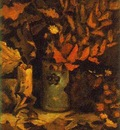 Vase with Dead Leaves