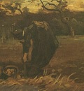 Peasant Woman Digging Up Potatoes