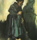 Peasant Woman Sweeping the Floor