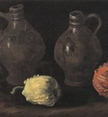 Still Life with Two Jars and Two Pumpkins