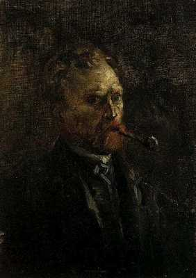 self portrait with pipe version