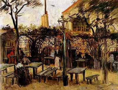 Terrace of a Cafe on Montmartre La Guinguette