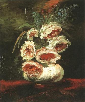 Vase with Peonies