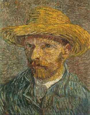 88 Self Portrait with Straw Hat