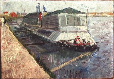 Bathing Float on the Seine at Asnieres