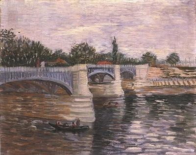 Seine with the Pont de la Grande Jette, The