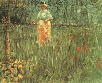 Woman Walking in a Garden, A