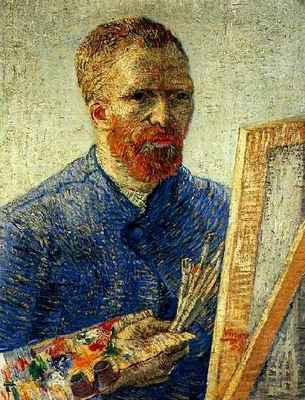 Self Portrait in Front of the Easel