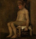 Nude Study of a Little Girl, Seated