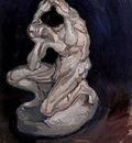 Plaster Statuette of a Kneeling Man