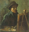 Self Portrait with Dark Felt Hat at the Easel