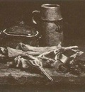 Still Life with Meat, Vegetables and Pottery
