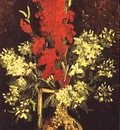 vase with gladioli and carnations version