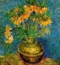 Fritillaries in a Copper Vase
