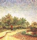 Lane in Voyer dArgenson Park at Asnieres