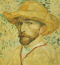 self portrait with straw hat version