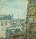 View of Paris from Vincents Room in the Rue Lepic