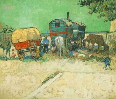 Encampment of Gypsies with Caravans