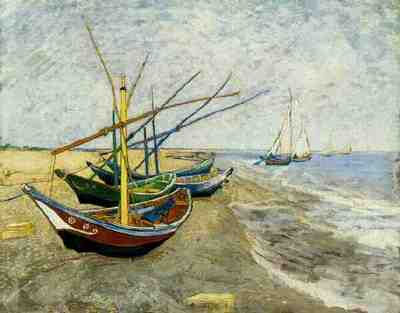 Fishing Boats on the Beach at Saintes Maries