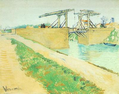Langlois Bridge at Arles with Road Alongside the Canal, The