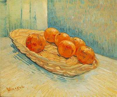 Still Life with Basket and Six Oranges