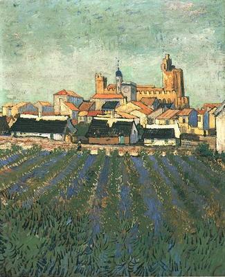 View of Saintes Maries