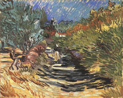 Road at Saint Remy with Female Figure, A