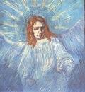 Half Figure of an Angel after Rembrandt