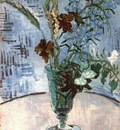 Still Life Glass with Wild Flowers