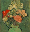 Still Life Vase with Rose Mallows