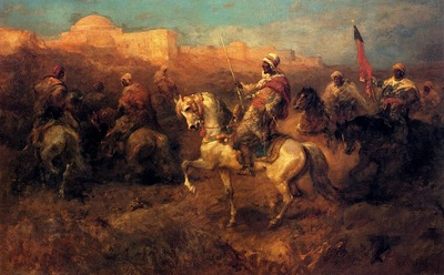 Adolf Schreyer Arab Horsemen On The March