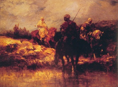 Adolf Schreyer Arabs On Horseback