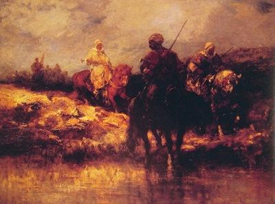 Adolf Schreyer Arabs On Horseback