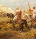 Adolf Schreyer Arab Cavalry Approaching An Oasis