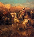 Adolf Schreyer Arab Horsemen On The March