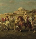 Adolf Schreyer Arab Horsemen