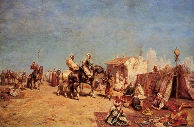 Alberto Pasini An Arab Encampment