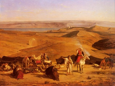 Alberto Pasini The Desert Encampment