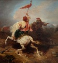 Alexandre Gabriel Decamps Turkish Standard Bearer