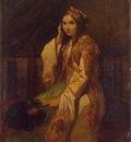Alexandre Gabriel Decamps Woman In Oriental Dress