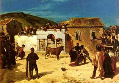 Alfred Dehodencq Combat De Novillos